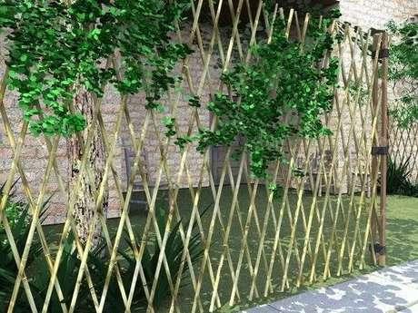 12. Modelo de cerca de bambu trançada. Fonte: Pinterest