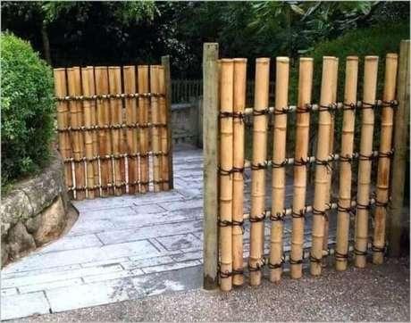 73. Modelo de cerca de bambu para decorar seu espaço. Fonte: Pinterest
