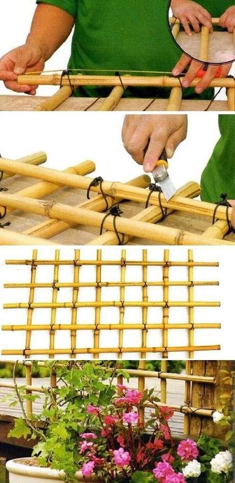 9. Como fazer cerca de bambu para jardim. Fonte: Como Fazer em Casa