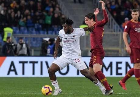 Milan e Roma se enfrentam neste domingo (Foto: Tiziana Fabi/AFP)
