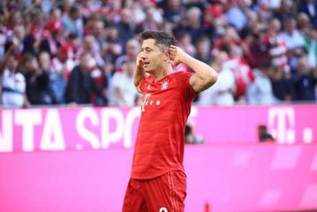Lewandowski fez o gol da vitória (Foto: Reprodução)