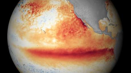 Último grande episódio de inundações na América do Sul e de secas na África e na Ásia causadas pelo El Niño ocorreram entre 2015 e 2016