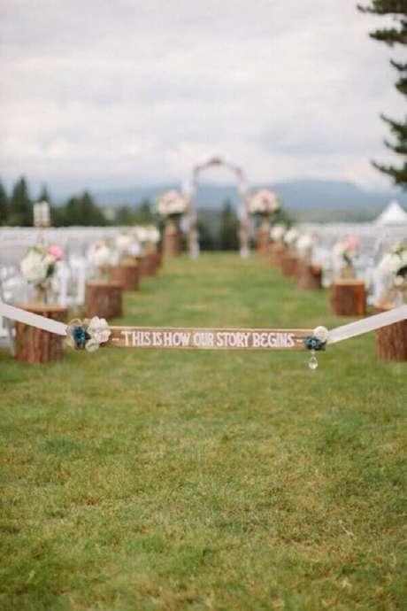 65. Os detalhes podem fazer toda a diferença na sua decoração de casamento no campo – Foto: Weddbook