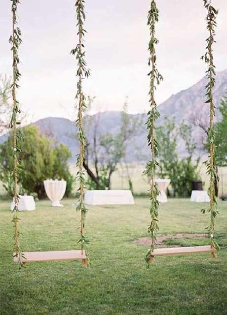 17. Crie espaços fofos para seus convidados de festa de casamento no campo – Foto: HappyWedd