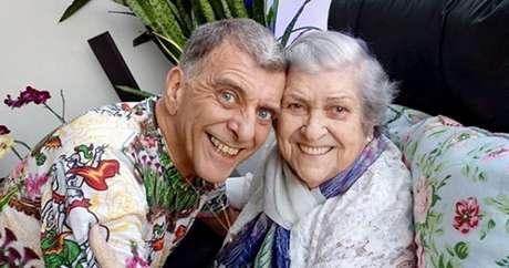 Jorge Fernando e a mãe, dona Hilda: uma parceria na vida e na TV