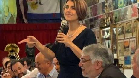 Manuela d'Ávila (PCdoB) também foi à Argentina para a eleição