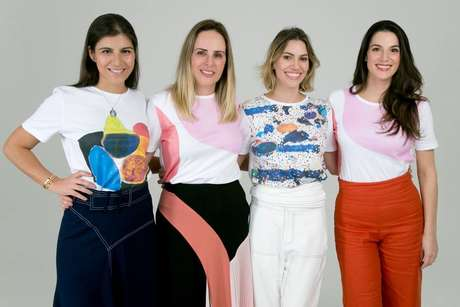 Da esquerda para a direita: as embaixadoras da Childhood Brasil Bel Foz, Fernanda Pires, Cris Baumgart e Patricia Carparelli.
