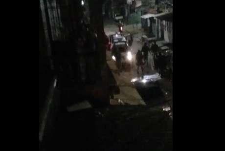 Moradores divulgaram nas redes sociais vídeos da ação policial em Manaus