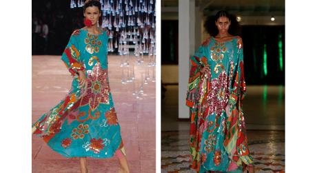 Carol Ribeiro em 2005 e o look no Fashion Resort (Fotos: Fernanda Calfat/Marcia Fasoli/Divulgação)