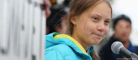 """""""Precisamos que nossos governantes e políticos escutem as pesquisas científicas"""", disse Greta Thunberg"""