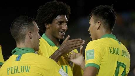 Talles Margno e Kaio Jorge marcaram pelo Brasil (Alexandre Loureiro/CBF)