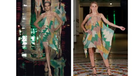 Looks de Amir Slama antes e no Fashion Resort (Fotos:Fernanda Calfat e Marcia Fasoli/Divulgação)