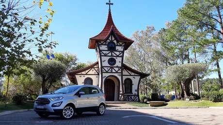 O EcoSport Titanium rodou mais de 500 km por estradas gaúchas.