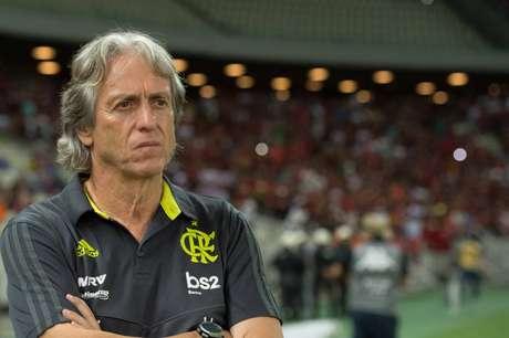 Comandados de Jorge Jesus cederam o empate para o Goiás (Foto: Alexandre Vidal/CRF)