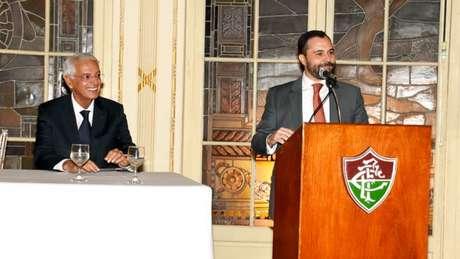 Celso Barros e Mário Bittencourt estão cumprindo a principal promessa de campanha (Mailson Santana/Fluminense)
