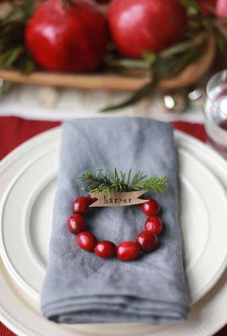 34. Guardanapo de tecido para decoração de festa de natal – Por: Pinterest