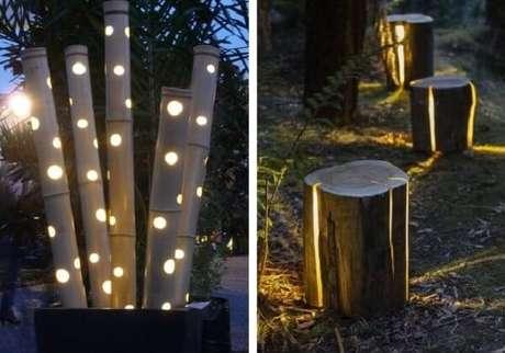 2. Luminárias utilizadas como enfeites para jardim. Fonte: Pinterest