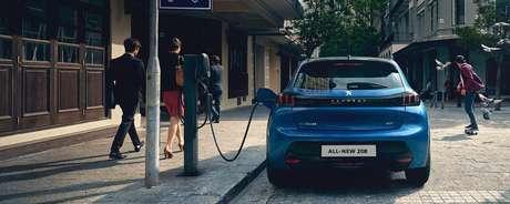 Versão elétrica do novo Peugeot 208.