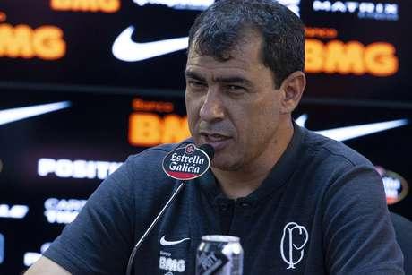 O treinador do Corinthians, Fábio Carille