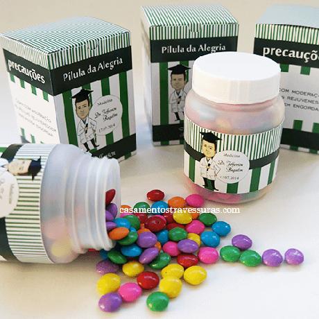 66. Pote de doces simulando remédios – Por: Casamentos e Travessuras