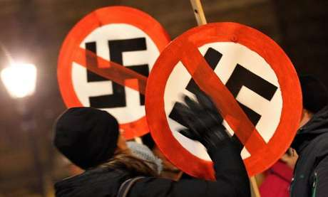 Marcha contra o nazismo em Dresden, na Alemanha