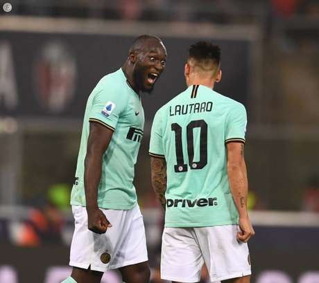 Lukaku e Lautaro marcaram para a Inter (Reprodução/Twitter Internazionale)