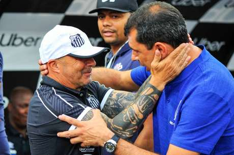 Sampaoli lamenta saída de Carille no Corinthians (Foto: Fernando Dantas/Gazeta Press)