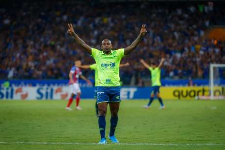 O Cruzeiro marcou com Sassá (Foto: Vinnicius Silva/Cruzeiro)