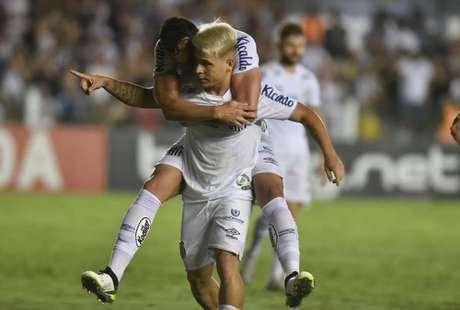 Soteldo marcou dois gols contra o Botafogo (Ivan Storti/Santos FC)