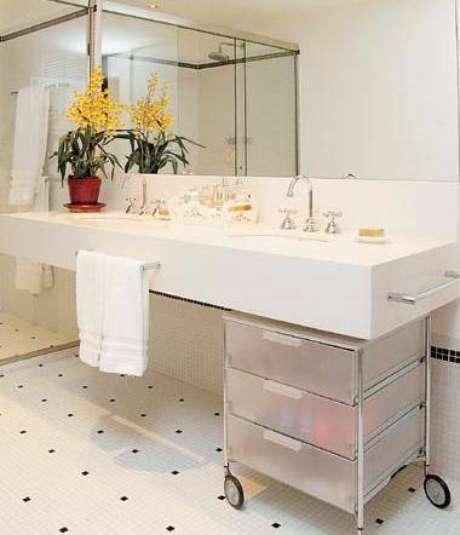 39. Gaveteiro para banheiro – Por: Construindo Minha Casa Clean