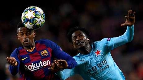Barcelona e Slavia Praga ficaram apenas no 0 a 0 nesta terça-feira na Champions (Josep LAGO/AFP)
