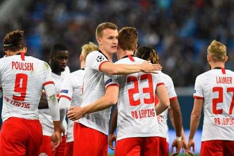 Leipzig venceu mais uma na Champions (Foto: AFP)