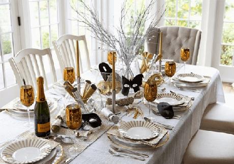 10. Ceia de ano novo branco e dourado – Por: Dica da Garota