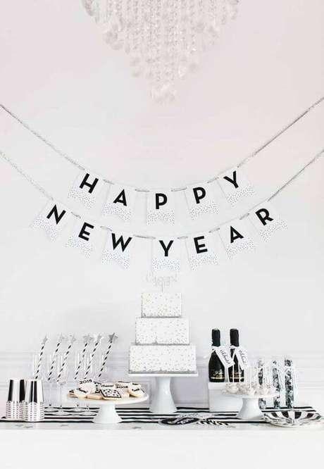 50. Decoração de festa de ano novo – Por: Pinterest
