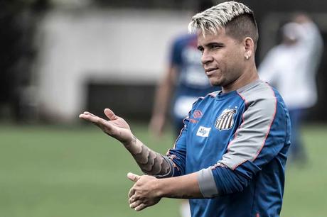 Atacante marcou dois gols no jogo contra o Botafogo (Foto: Ivan Storti/Santos)