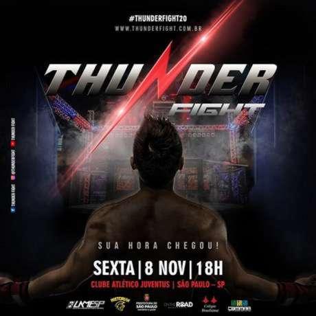 Thunder Fight 20 acontece na sexta-feira e terá Maurício Facção x Marcelo Matias no main event (Foto: Divulgação)