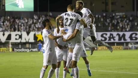 Trio de ataque do Santos funcionou contra o Botafogo (Flavio Hopp/Flavio Hopp/Lancepress!)