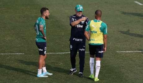 Lucas Lima e Mayke devem ser escalados como titulares por Mano nesta quarta-feira (Agência Palmeiras/Divulgação)