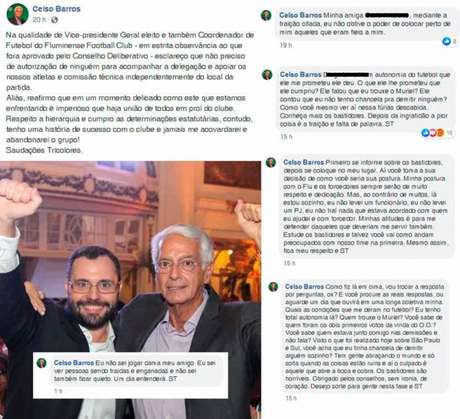 Celso Barros usou uma foto com Mário, mas criticou o presidente nos comentários (Foto: Reprodução/Facebook)