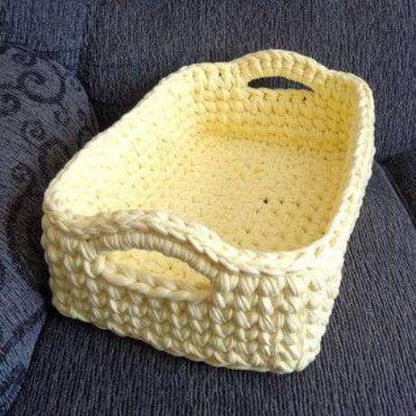 12. O cesto organizador de crochê é muito popular. Foto: Elo7