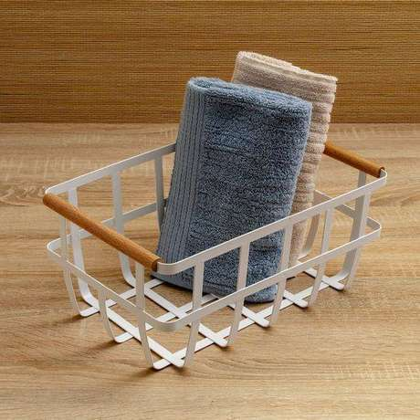 22. O cesto organizador pode ser usado para muitos propósitos. Foto: Etna