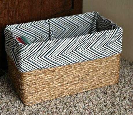 34. Modelos de cesto organizador de corda também são muito populares, Foto: Joia de Casa