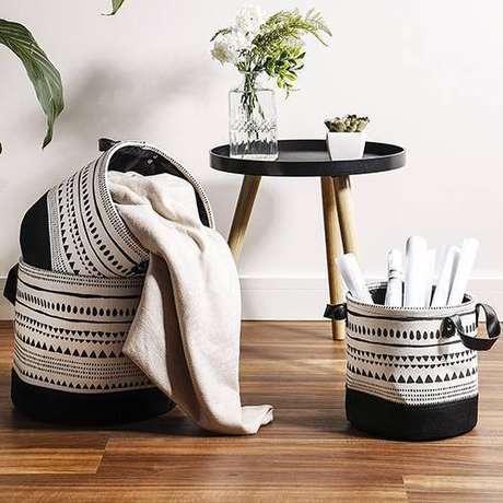 44. Um bom cesto organizador pode ter diferentes propósitos. Foto: Shoptime