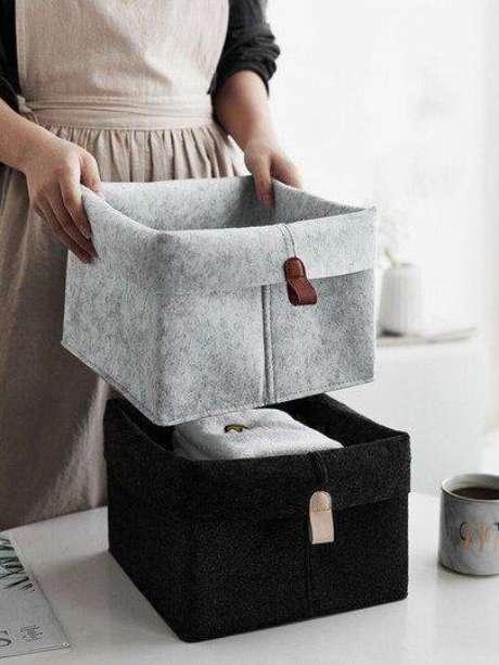 13. O melhor a se fazer é sempre comprar mais de um cesto organizador. Foto: Cute Shopp