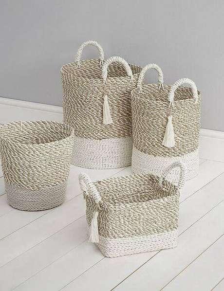 1. O cesto organizador é um opção funcional de manter a casa livre da bagunça. Foto: Marks and Spencer