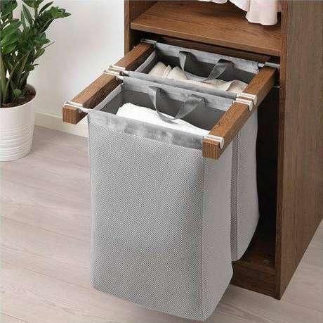 36. Você pode inserir seu cesto organizador em diferentes lugares. Foto: Ikea