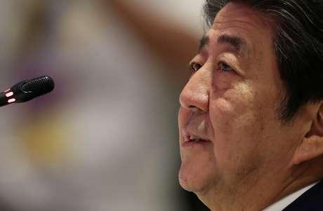 Primeiro-ministro do Japão, Shinzo Abe, em Bangcoc 04/11/2019 REUTERS/Soe Zeya Tun