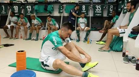 O Palmeiras fez uma atividade mais leve nesta quinta-feira, no Rio de Janeiro (Foto: Cesar Greco)