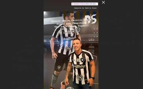 Irmão de Diego Souza criticou o técnico Valentim, que recentemente barrou o camisa 7 (Foto: Reprodução/Instagram)