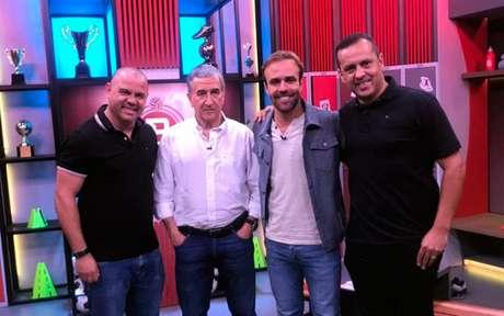 Roni, Parreira, Roger e Marco Brito (Foto: Globo/Divulgação)